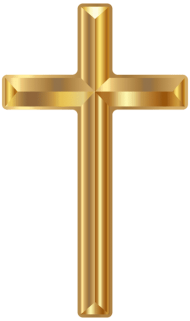 gold cross PNG images transparent