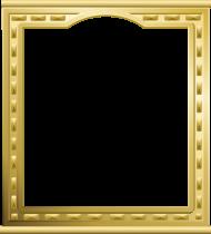 gold frame a4 PNG images transparent