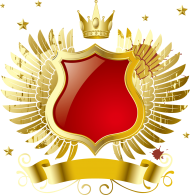 golden crown with wings PNG images transparent