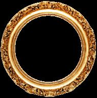 golden round frame PNG images transparent