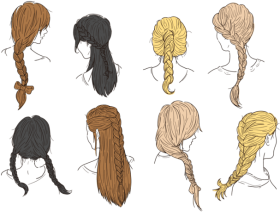 Download Hair Plaits And Braids Vectors Braided Hair Braids Vector Png Free Png Images Toppng
