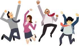 happy employees PNG images transparent