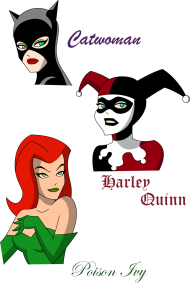 Download Harley Quinn Clipart Face Poison Ivy And Harley Quinn Cartoo Png Free Png Images Toppng