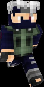 Download Kakashi Hatake 64x64 Minecraft Skins De Naruto Png Free Png Images Toppng