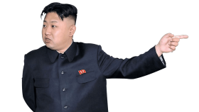 kim jong un pointing right PNG images transparent