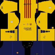 Download kit barcelona dls16 uniforme fora de casa 15 - kit