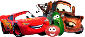 Download Lightning Mcqueen Bob The Tomato Larry The Cucumber Disneyland Park Walt Disney Studios Park Png Free Png Images Toppng