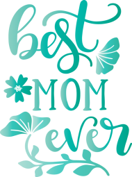 Mother's Day Text Turquoise Teal for Mothers Day Calligraphy for Mothers Day PNG images transparent