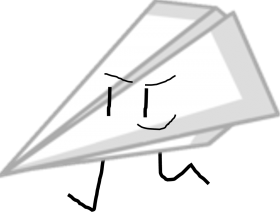 paper airplane bfdi PNG images transparent