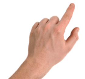 pointing right finger PNG images transparent