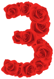 red roses three number PNG images transparent