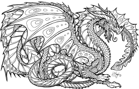 Download Rintable 17 Fire Dragon Coloring Pages Realistic Dragon Coloring Page Png Free Png Images Toppng