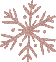 rose gold snowflake PNG images transparent