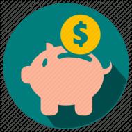 roupbank - save money flat ico PNG images transparent