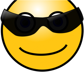 smiley face with glasses meme - gif cool face emoji PNG images transparent