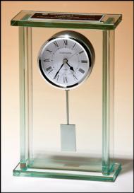 tall jade glass clock with pendulum PNG images transparent