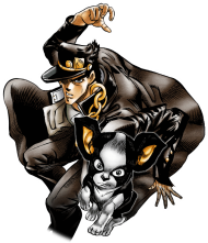 Download Unit Jotaro Kujo And Iggy Jojo S Bizarre Adventure Png Free Png Images Toppng