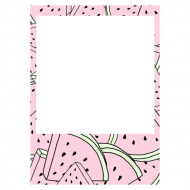 Download Watermelon Polaroid Frame Watermelowwwwnnnn Polaroid Frame Aesthetic Transparent Png Free Png Images Toppng
