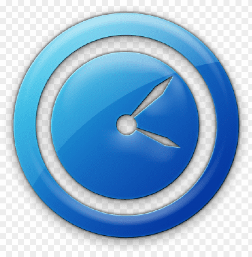 free PNG 078468 blue jelly icon business clock2 - blue clock icon png - Free PNG Images PNG images transparent
