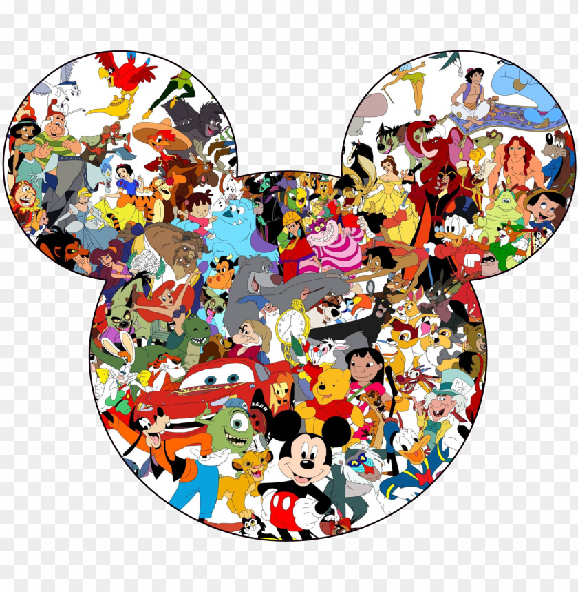 free PNG 1 of 4 mickey mouse head silhouette disney characters - disney characters mickey head PNG image with transparent background PNG images transparent