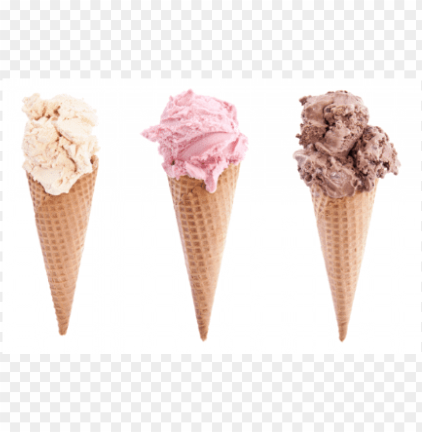 free PNG 1 sugar cone with vanilla ice cream, 1 with strawberry - mexican ice cream cone PNG image with transparent background PNG images transparent