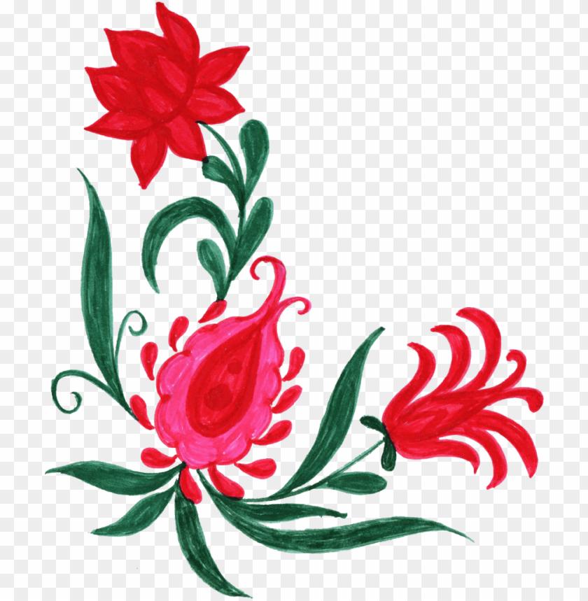 free PNG 10 colorful flower corner - corner designs png in flowers PNG image with transparent background PNG images transparent