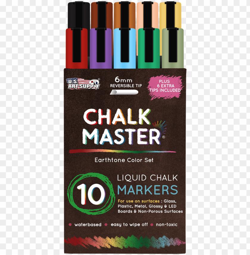 free PNG 10 earth tone liquid chalk marker set - liquid chalk markers PNG image with transparent background PNG images transparent