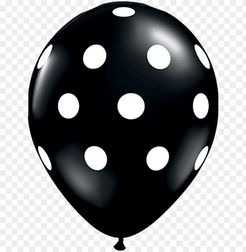 "free PNG 11"" black polka dot balloon - red polka dot balloo PNG image with transparent background PNG images transparent"