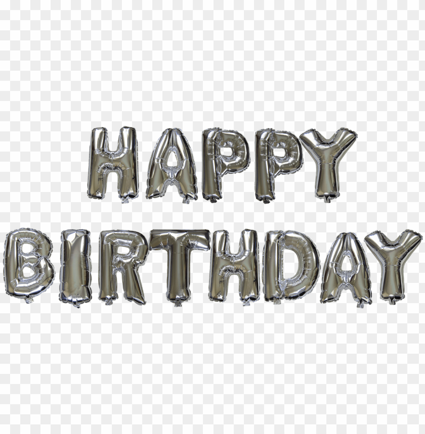 free PNG 14 inch alphabet balloons set happy birthday silver - happy birthday balloon silver PNG image with transparent background PNG images transparent