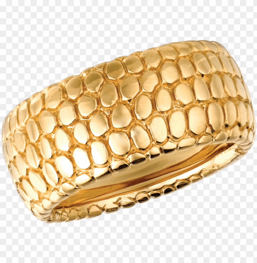 free PNG 18kt yellow gold snake skin ring - snake skin gold ri PNG image with transparent background PNG images transparent