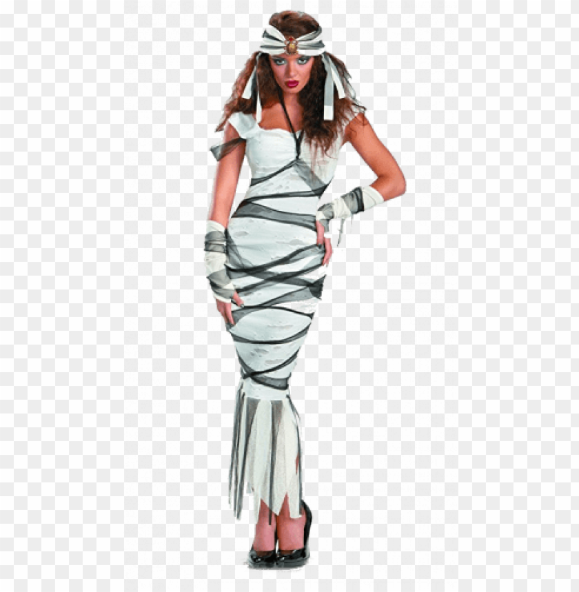 free PNG 1930s mummy costume - womens 4-6 womens hollywood mummy adult costume - egyptia PNG image with transparent background PNG images transparent