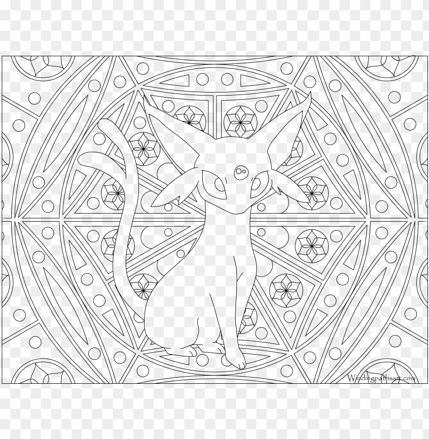 196 Espeon Pokemon Coloring Page Pokemon Adult Colouring Pages Png Image With Transparent Background Toppng