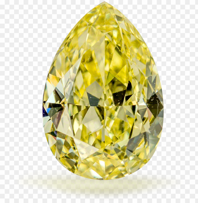 free PNG 20 fancy intense yellow diamond pear if - fancy yellow diamond PNG image with transparent background PNG images transparent