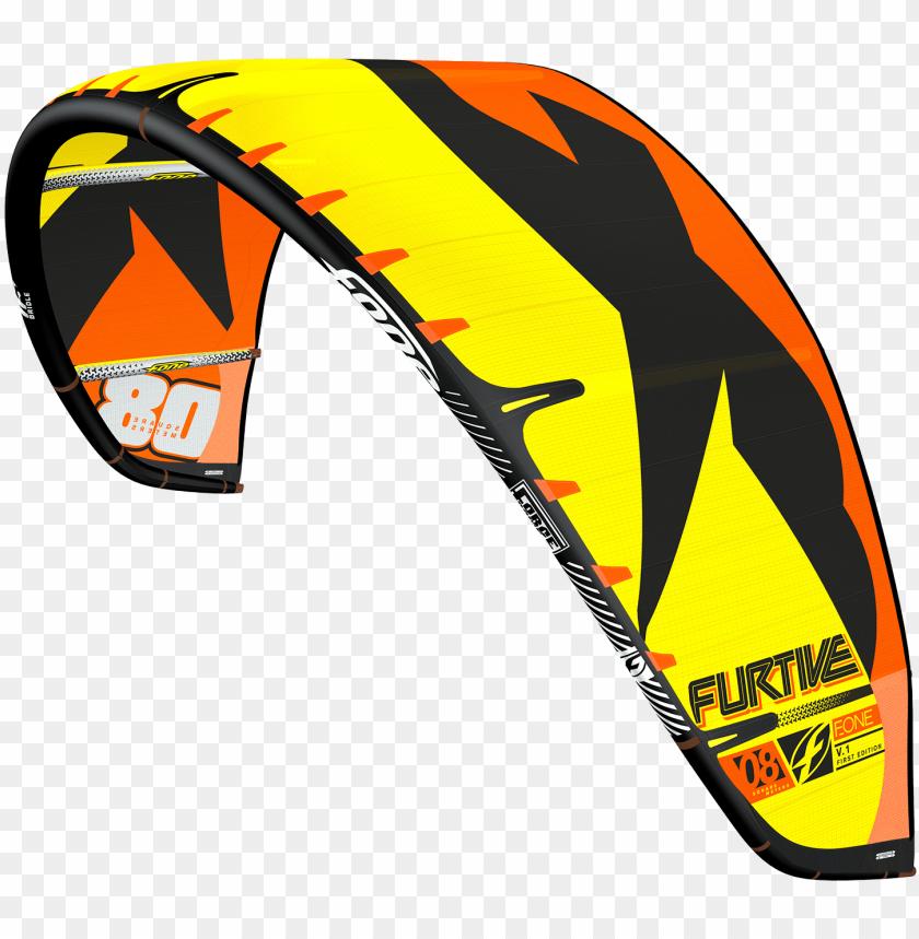 free PNG 2017 f-one furtive v1 kitesurfing kite - ailes de kitesurf - aile f-one furtive 2017 PNG image with transparent background PNG images transparent