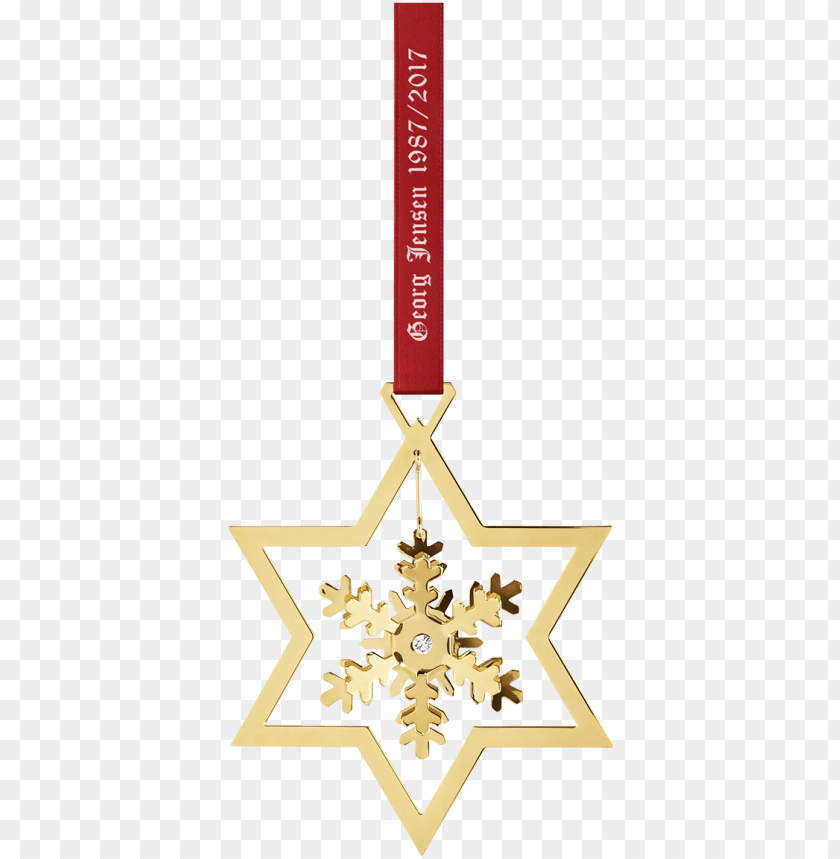 free PNG 2017 ornament snowflake, gold PNG image with transparent background PNG images transparent