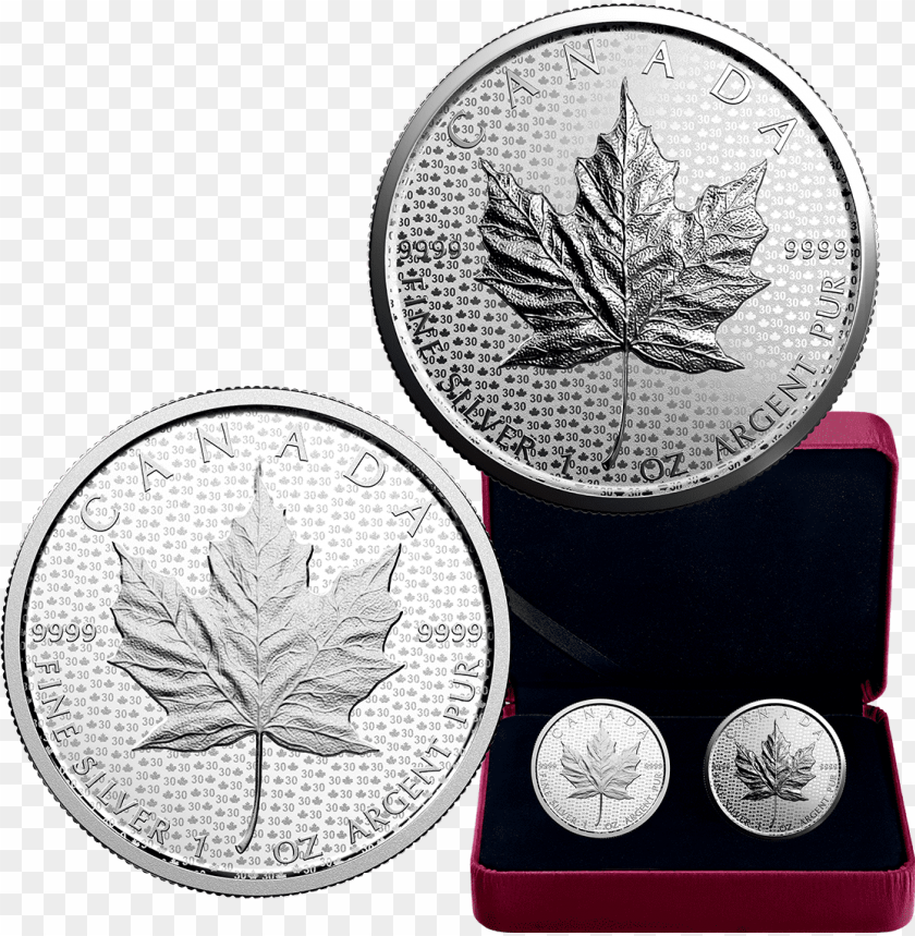 2018 1 oz canada 30th anniversary of the silver maple - 2018 30 anniversary maple leaf PNG image with transparent background@toppng.com