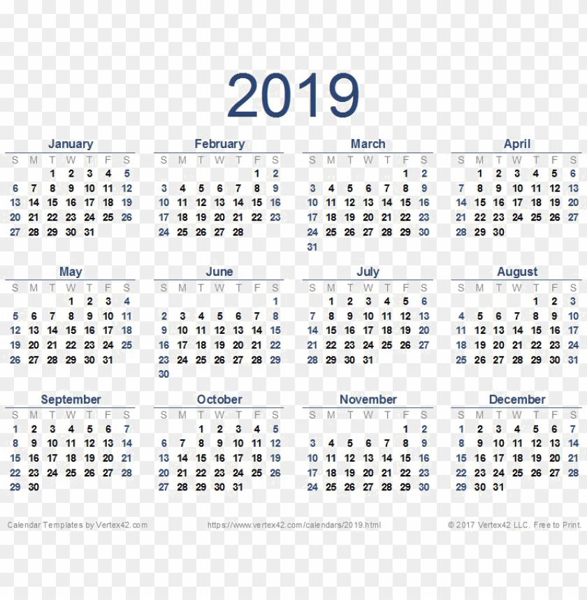free PNG 2019 calendar png image - calendar template 2019 pdf PNG image with transparent background PNG images transparent