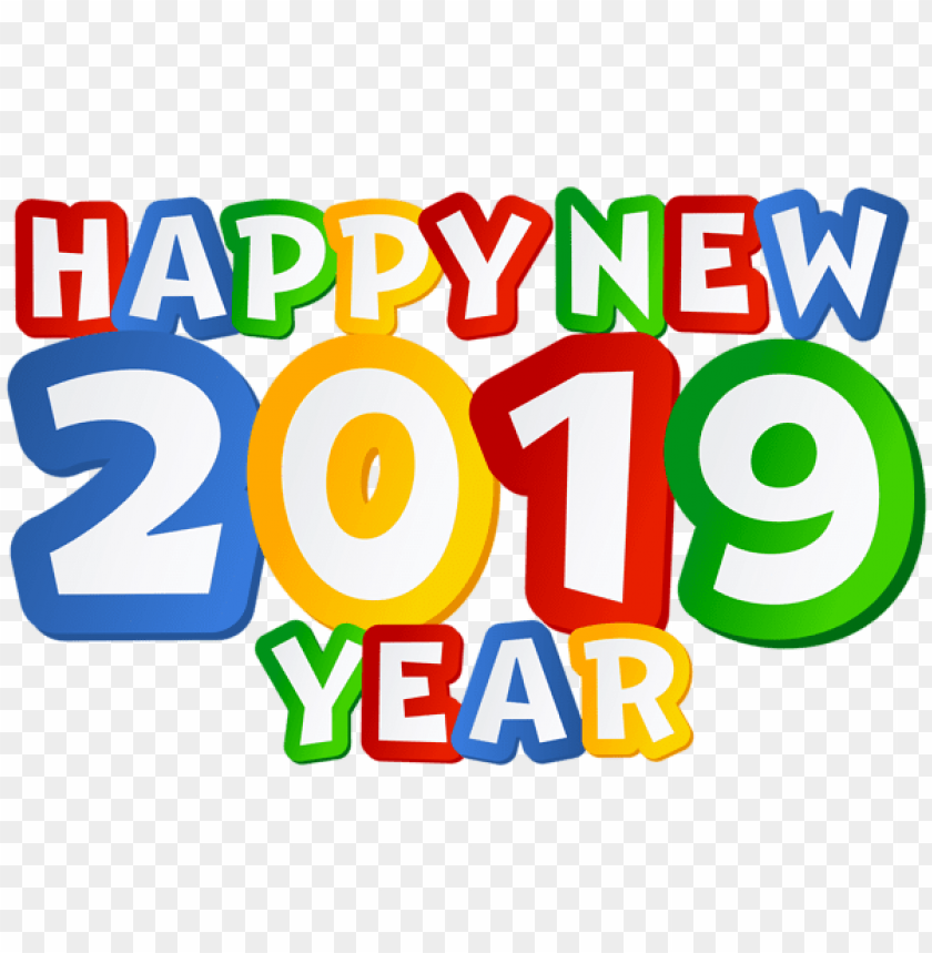 free PNG 2019 happy new year png clip art image - happy new year 2019 clip art PNG image with transparent background PNG images transparent