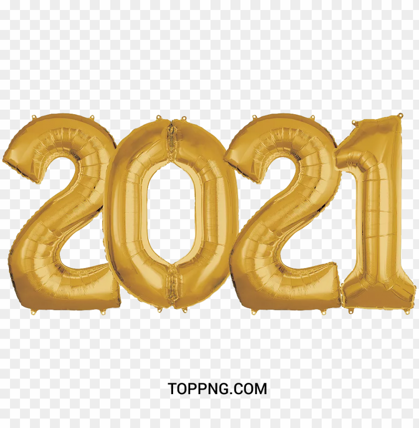 free PNG 2021 balloon gold color PNG image with transparent background PNG images transparent
