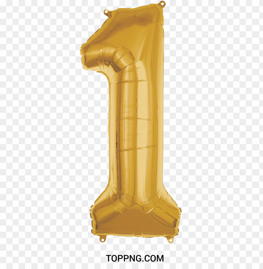 free PNG number one balloon png text gold color PNG image with transparent background PNG images transparent