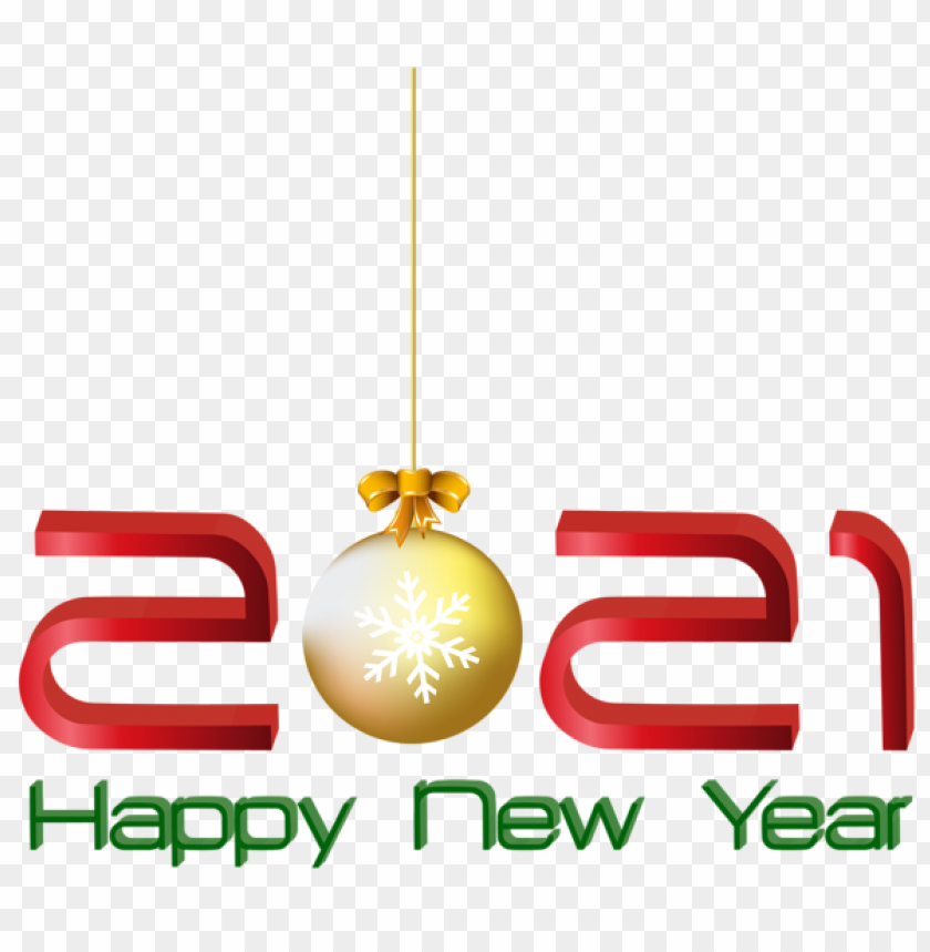 2021 Red Happy New Year Png Image With Transparent Background Toppng