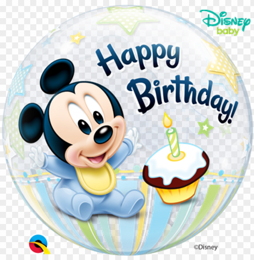 "free PNG 22"" disney bubble mickey mouse 1st birthday - baby mickey mouse 1st birthday balloons PNG image with transparent background PNG images transparent"