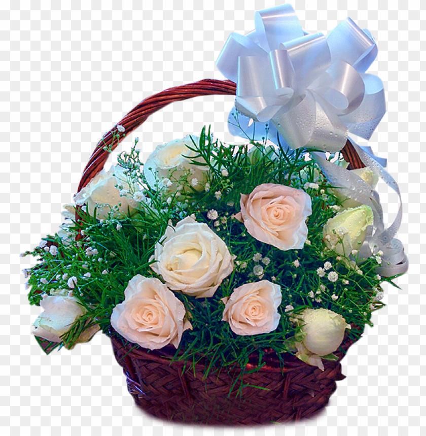free PNG 24 white roses basket - rose PNG image with transparent background PNG images transparent