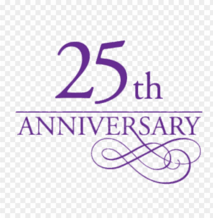 25th Anniversary Purple Letters Png Image With Transparent Background Toppng