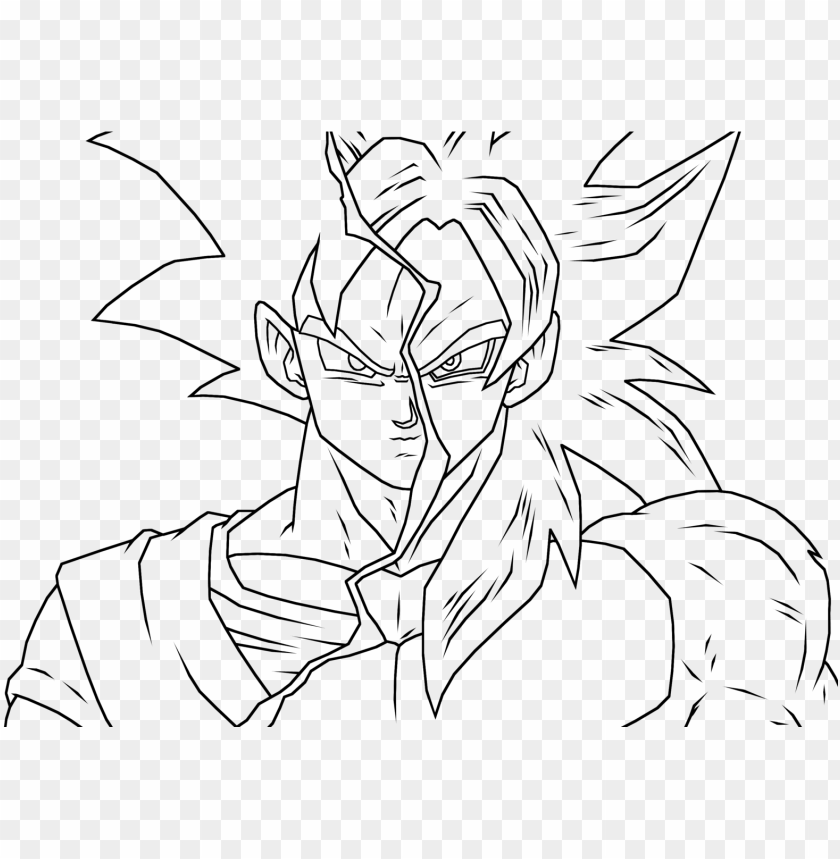 free PNG 28 collection of dbz ssj4 drawing - dragon ball super outline PNG image with transparent background PNG images transparent