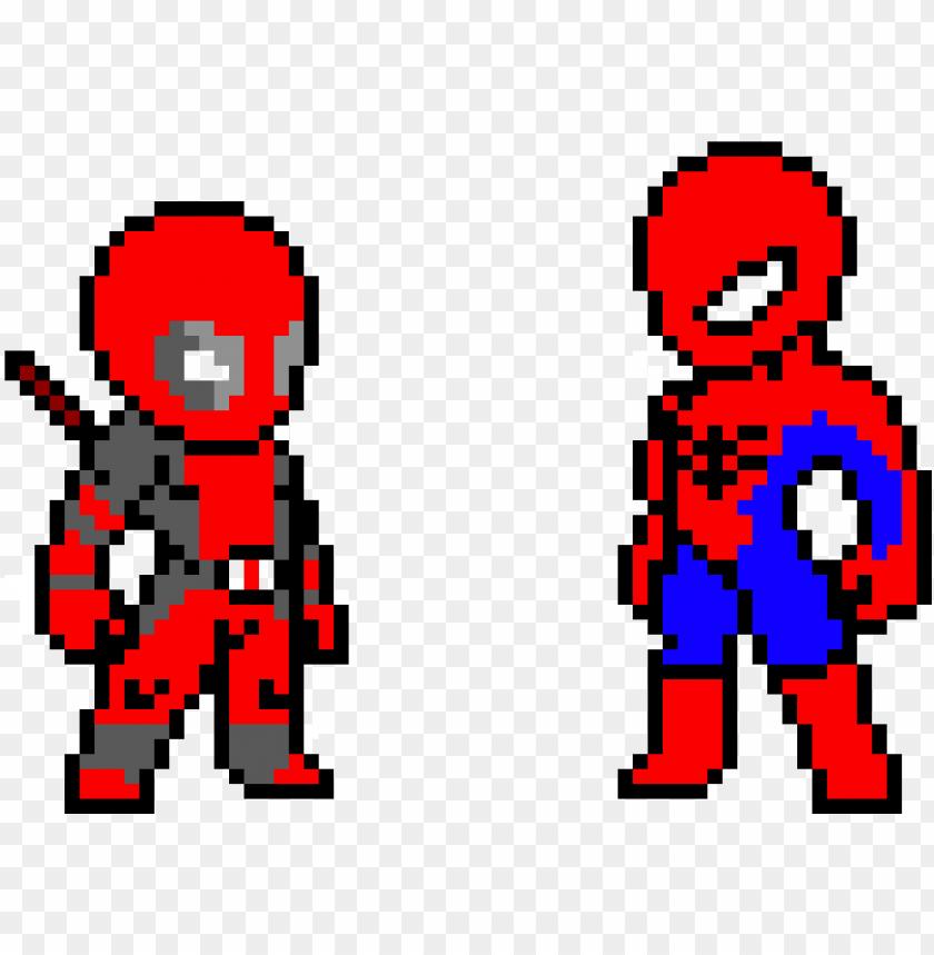 28 Collection Of Pixel Drawings Deadpool Pixel Deadpool