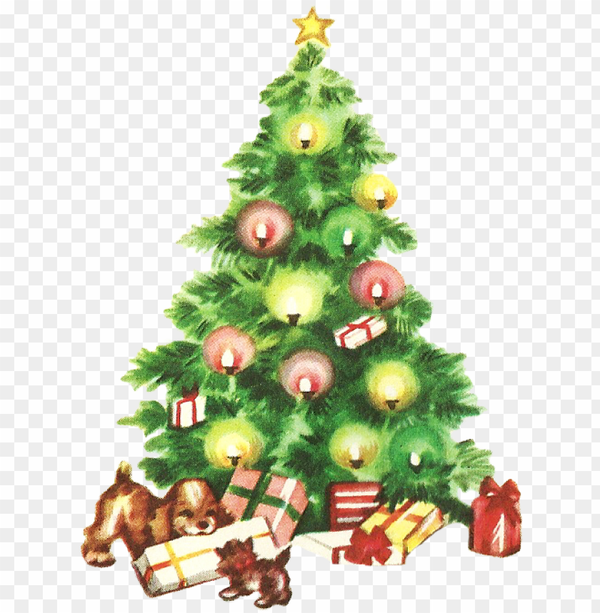 free PNG 28 collection of vintage christmas tree clipart - vintage christmas tree clip art PNG image with transparent background PNG images transparent