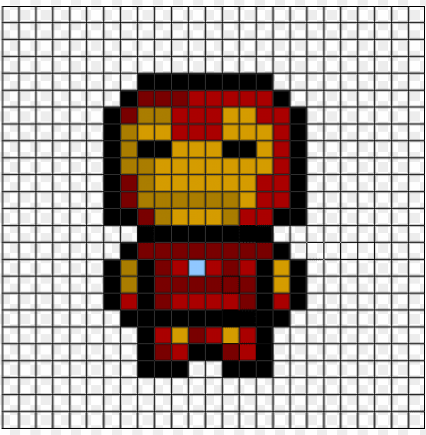 2d Iron Man Helpful Grid Pixel Art Easy Iron Ma Png Image