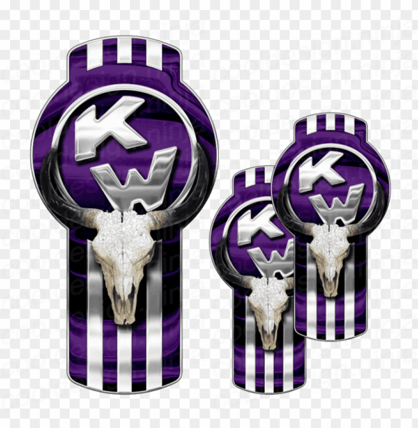 free PNG 3-pack of purple kenworth bull skull emblem skins - kw emblem PNG image with transparent background PNG images transparent