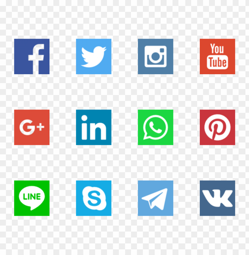 free PNG 30 social networks vector logos PNG images transparent